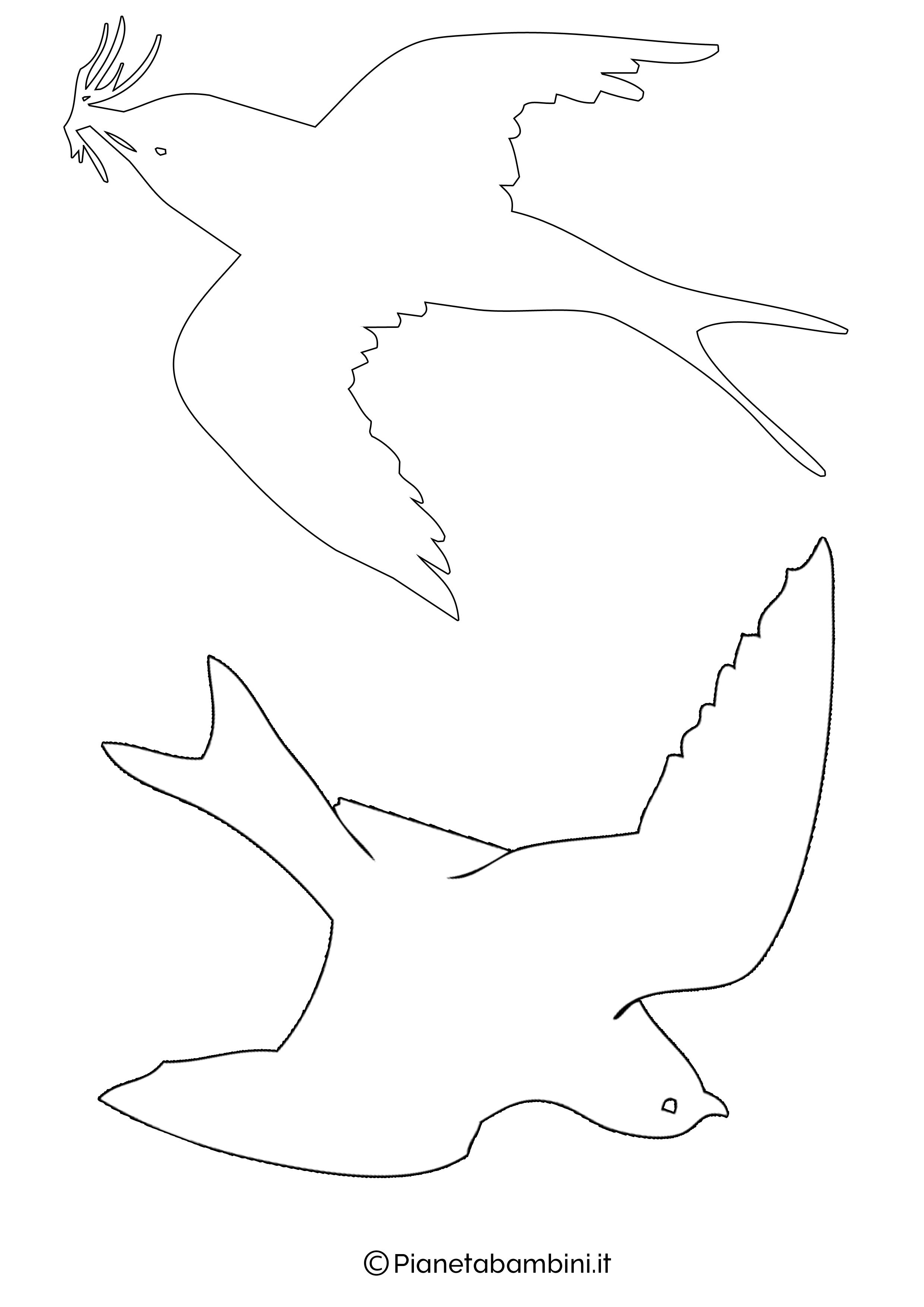 Sagome di rondini grandi da stampare 1