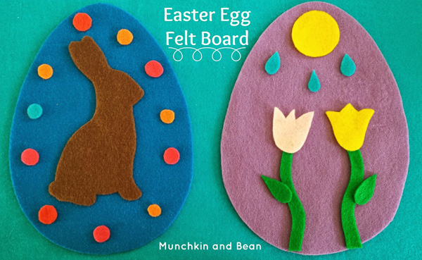 Uova pasquali e decorazioni in feltro