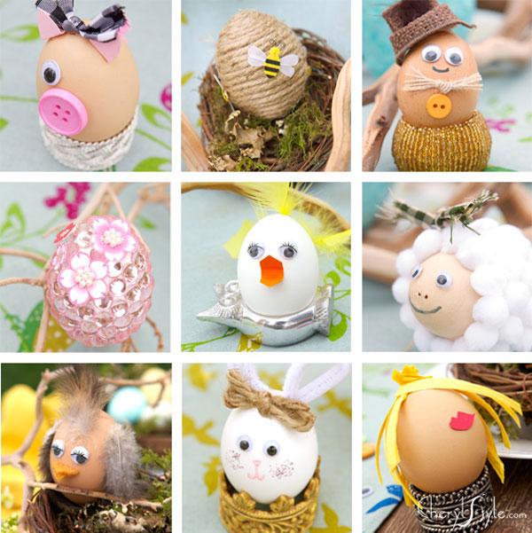 Idee per la decorazione di uova di Pasqua originali