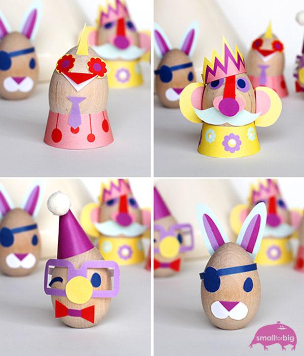 Uova di Pasqua decorate con cartoncini