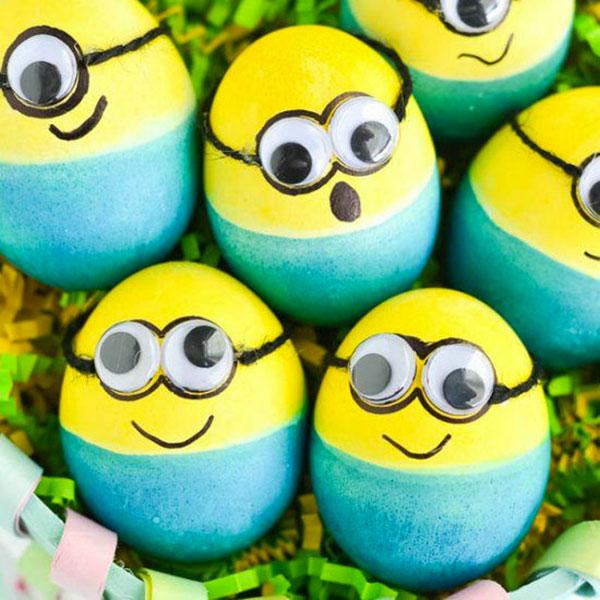 Uova di Pasqua decorate a Minions