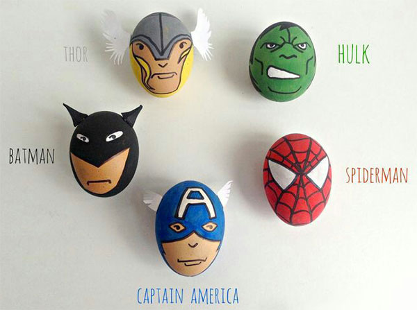 Uova di Pasqua decorate Avengers