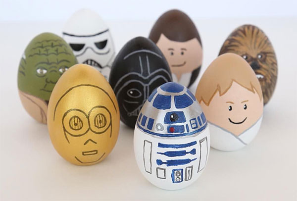 Uova di Pasqua decorate Star Wars