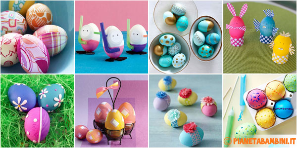 Idee per decorare uova di Pasqua con i bambini