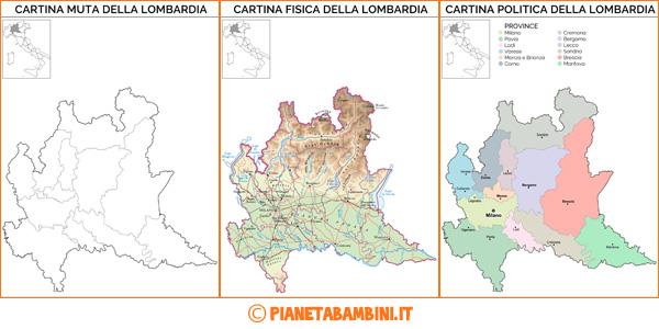 Cartina Muta Fisica E Politica Della Lombardia Da Stampare