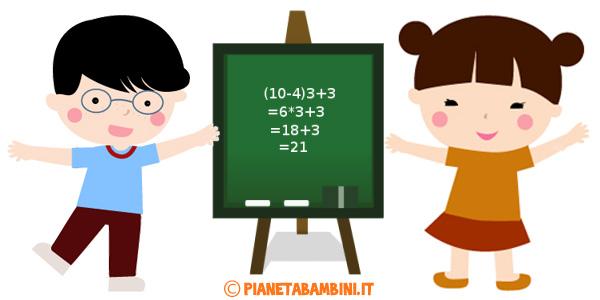 Esercizi sulle espressioni aritmetiche da stampare gratis