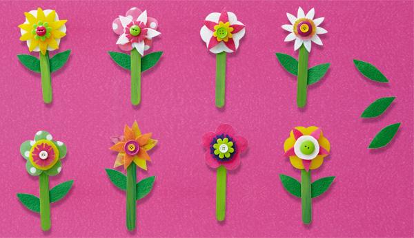Istruzioni per la creazione dei fiori di feltro