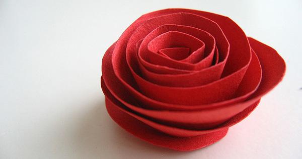 Rosa di carta fai da te