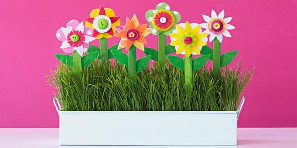 Lavoretti per la festa della mamma fiori di feltro for Lavoretti di primavera