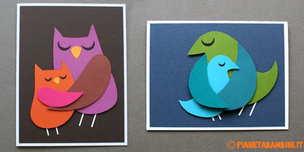 Come creare degli uccelli di cartoncino che si abbracciano
