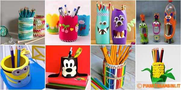 Portapenne fai da te 20 idee per lavoretti per bambini - Creazioni fai da te per la casa ...