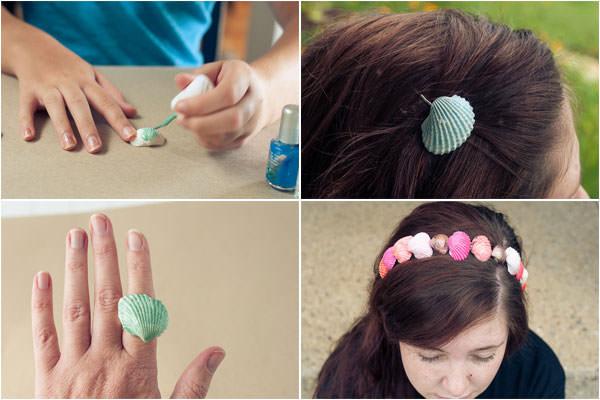Come creare degli accessori con le conchiglie