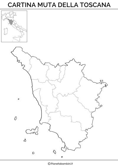 Cartina muta della Toscana da stampare gratis