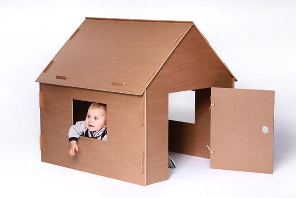 20 casette di cartone fai da te per bambini for Case facili da costruire