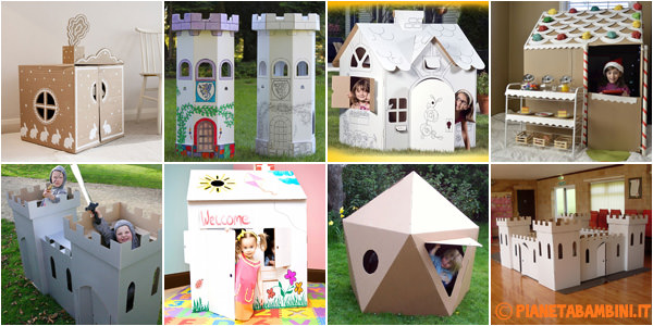 20 casette di cartone fai da te per bambini - Idee per costruire una casa ...