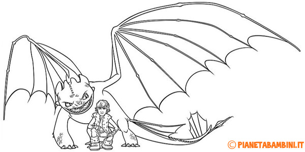Disegni di Dragon Trainer da stampare gratis e colorare