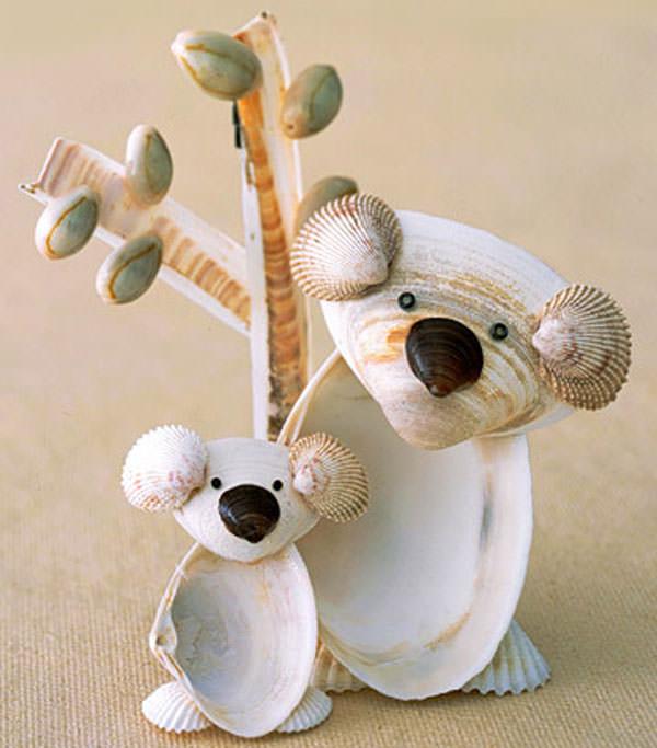 Come creare dei koala con le conchiglie