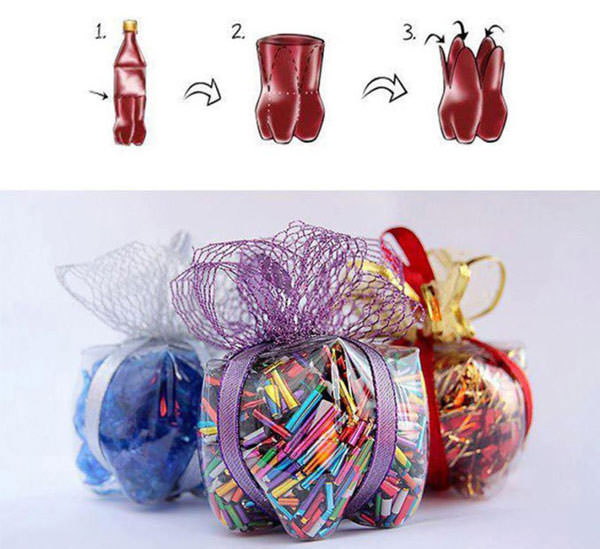 Come creare scatoline regalo con bottiglie di plastica