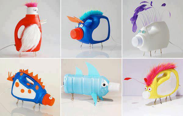 Come creare dei divertenti animali con bottiglie di detersivi