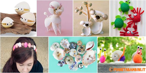 10 Idee Per Lavoretti Con Le Conchiglie Per Bambini Pianetabambiniit