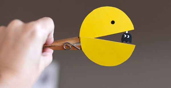 Come creare Pac-Man con una molletta