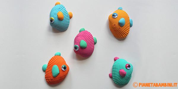 Come creare pesci tropicali con conchiglie colorate