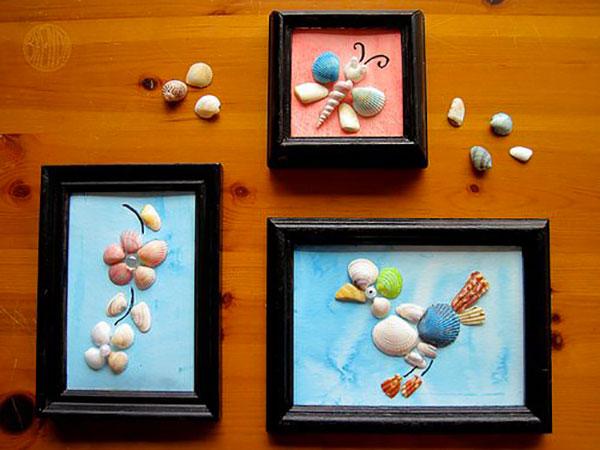 Come creare dei quadri con le conchiglie come lavoretto estivo