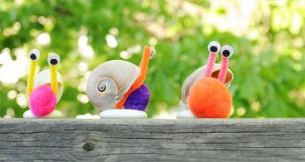 Come creare delle lumache con le conchiglie