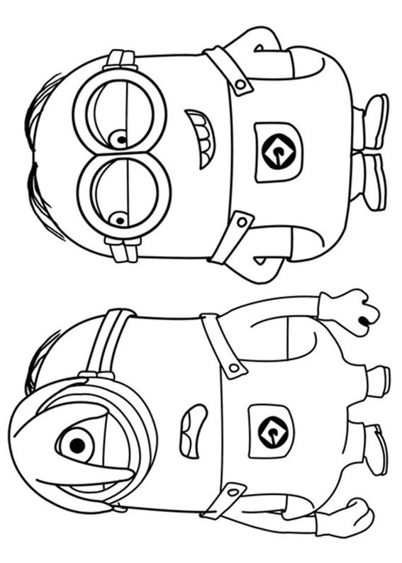 30 disegni dei minions da colorare
