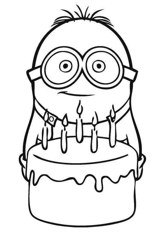 30 disegni dei minions da colorare for Disegnare online 3d