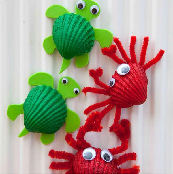 Super 10 Idee per Lavoretti con le Conchiglie per Bambini  PH36
