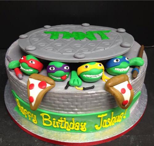 Foto della torta delle Tartarughe Ninja in PDZ n.01