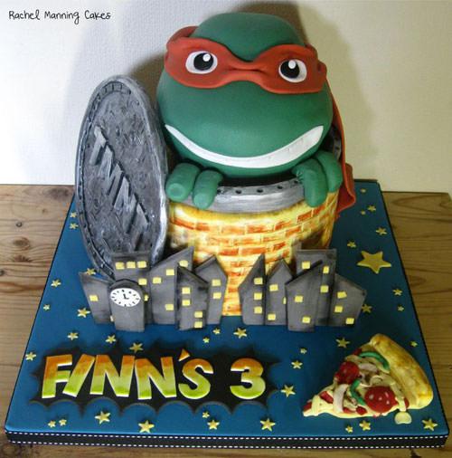 Foto della torta delle Tartarughe Ninja in PDZ n.02