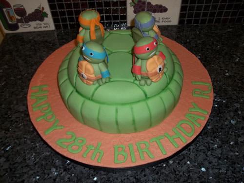 Foto della torta delle Tartarughe Ninja in PDZ n.03
