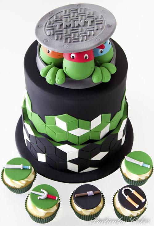 Foto della torta delle Tartarughe Ninja in PDZ n.04
