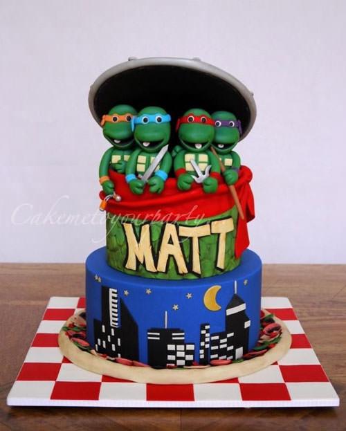 Foto della torta delle Tartarughe Ninja in PDZ n.05