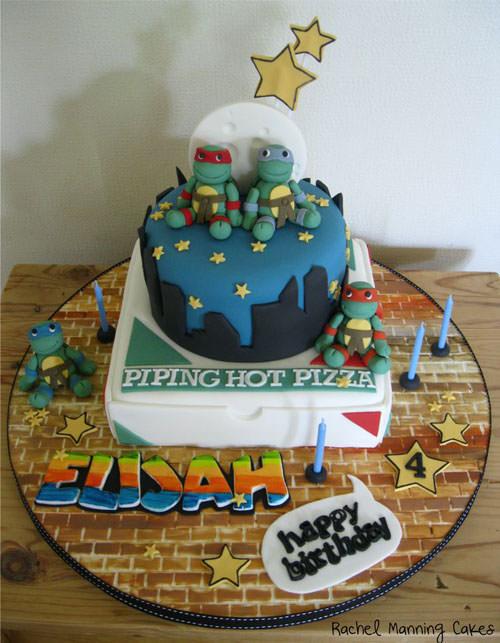 Foto della torta delle Tartarughe Ninja in PDZ n.07