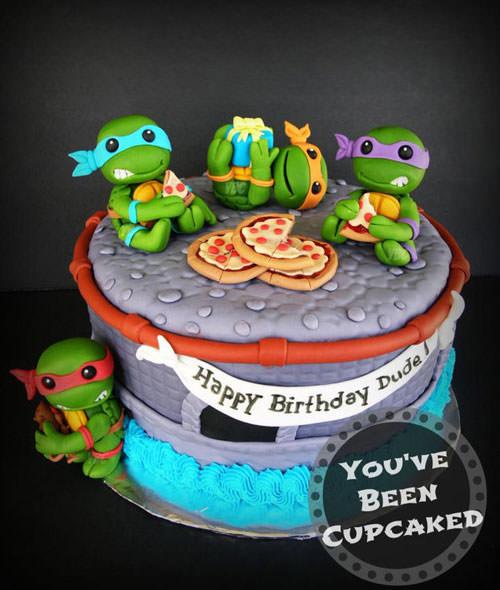 Foto della torta delle Tartarughe Ninja in PDZ n.08