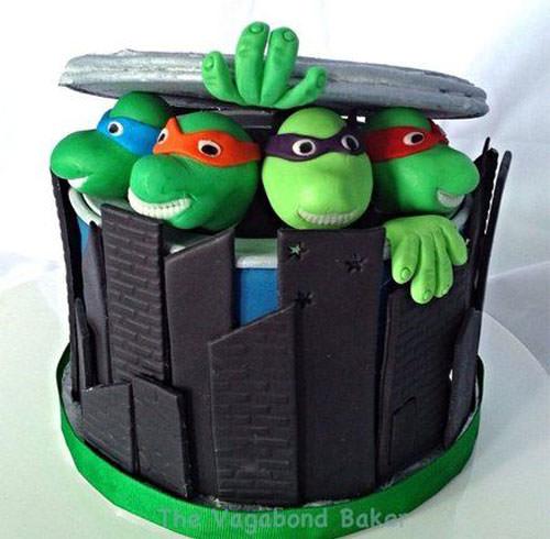 Foto della torta delle Tartarughe Ninja in PDZ n.09
