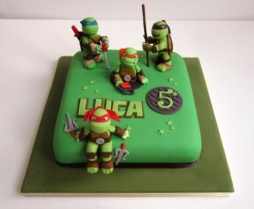 Foto della torta delle Tartarughe Ninja in PDZ n.10