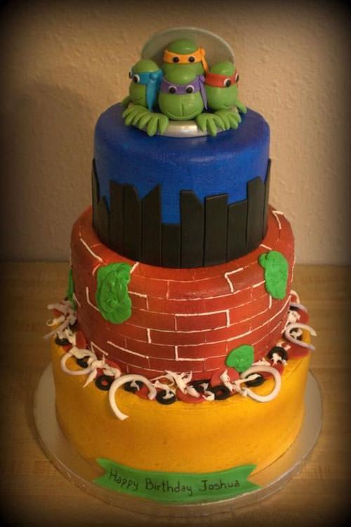Foto della torta delle Tartarughe Ninja in PDZ n.11