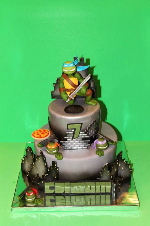 Foto della torta delle Tartarughe Ninja in PDZ n.12