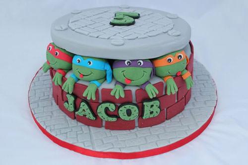 Foto della torta delle Tartarughe Ninja in PDZ n.13