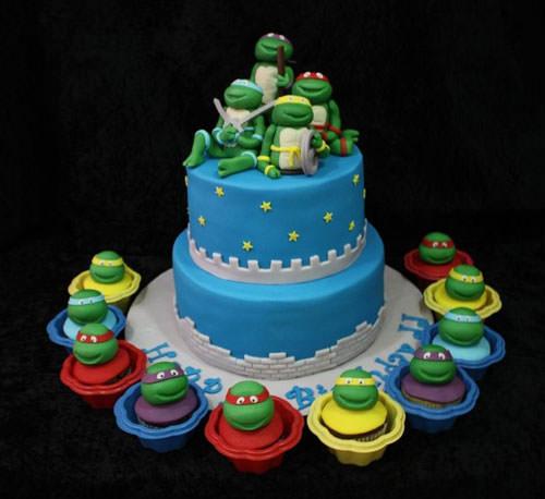 Foto della torta delle Tartarughe Ninja in PDZ n.14