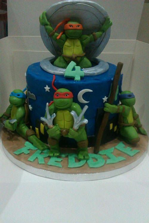 Foto della torta delle Tartarughe Ninja in PDZ n.15