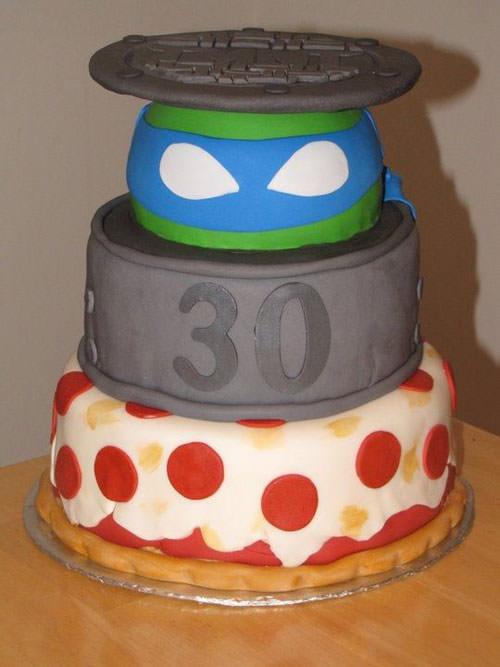 Foto della torta delle Tartarughe Ninja in PDZ n.16