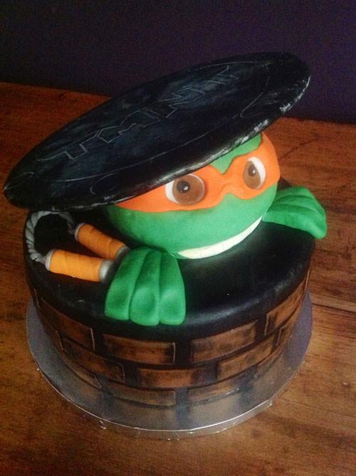Foto della torta delle Tartarughe Ninja in PDZ n.17