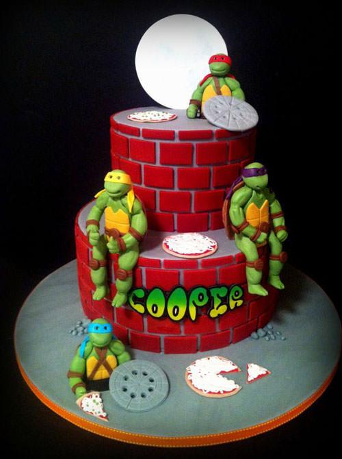 Foto della torta delle Tartarughe Ninja in PDZ n.18