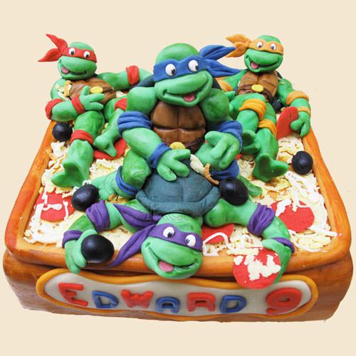 Foto della torta delle Tartarughe Ninja in PDZ n.20