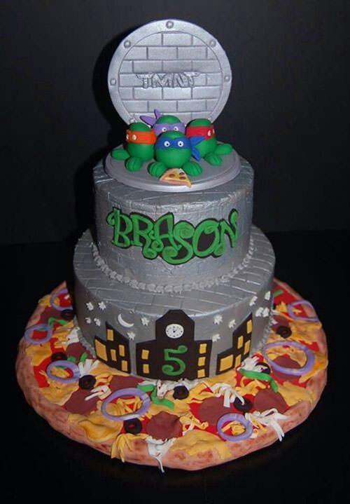 Foto della torta delle Tartarughe Ninja in PDZ n.21